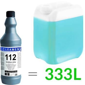 Płyn do czyszczenia szkła ultrakoncentrat 112 (1L, 1:330), Cleamen