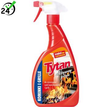 Aktywny płyn do czyszczenia szyb kominkowych i grillów (500g), Tytan