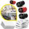 Ściereczki podłogowe (3 szt), powłoczki na dyszę ręczną (3 szt), okrągłe szczotki czerwone, czarne (4 szt), do SI/SC, Karcher