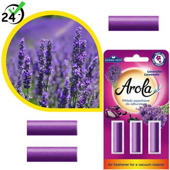 Wkłady zapachowe o zapachu lawendy do odkurzaczy, Arola
